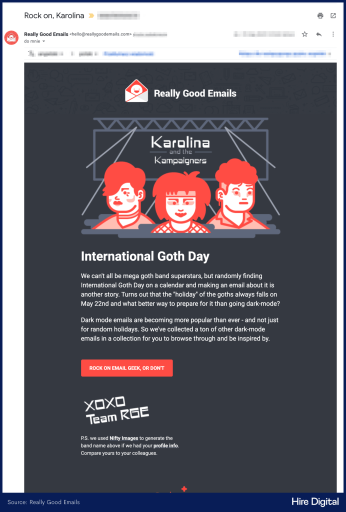 Really Good Emails Personalized Email Marketing